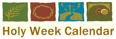 holy week calendar 2018